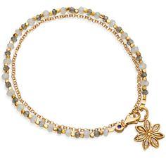 Labradorite Star Anise Biography Bracelet | 18ct Yellow Gold Plate | Astley Clarke London