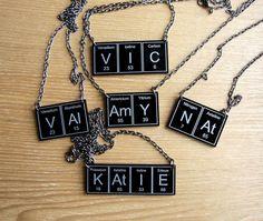 Omg periodic table earrings wendyjnz pinterest periodic table your name in periodic table necklace in black or white versions urtaz Gallery