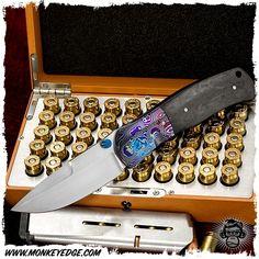 JW Smith Knives Linerlock - MokuTi/Rag Carbon Fiber