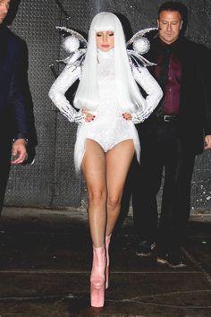 Lady Gaga worn Long Tran Shoes on her Birthday.  Happy Birthday Gaga !!!