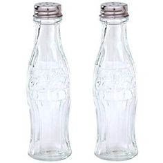 Coca-Cola Glass Salt and Pepper Shakers. #collectiblesaltandpeppershakers