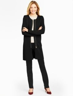Zip-Front Sweater Topper - Talbots
