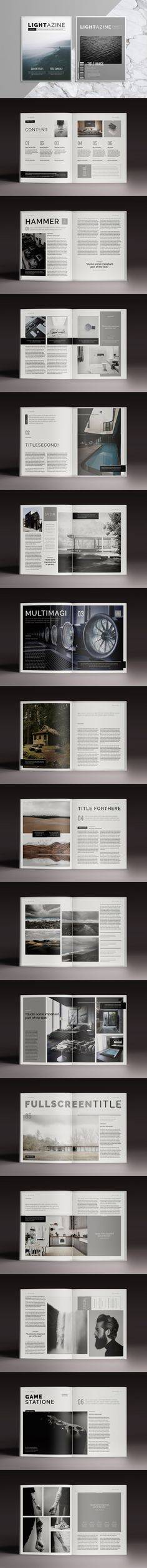 Lightazine - 32 Pages Magazine Template InDesign INDD