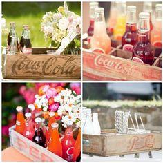 Antique Soda Crates makes a wonderful display holder for those Izze bottle drinks!
