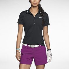 Likes the shorts in this picture   Nike Icon Swoosh Tech Women's Golf Polo #golfgear