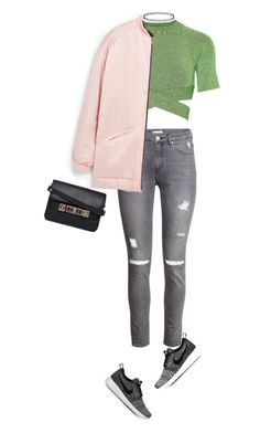 """Athleisure"" by lifeaskaleidoscope ❤ liked on Polyvore featuring T By Alexander Wang, H&M, MANGO, NIKE, Proenza Schouler, women's clothing, women, female, woman and misses"