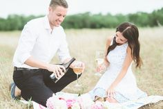 Romantic Vineyard Engagement Session