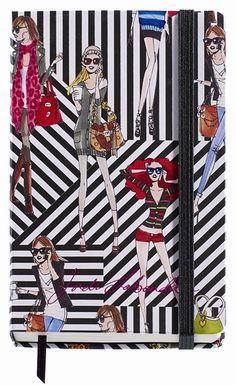 Jordi Labanda Small Bound Notebook-Black Stripes