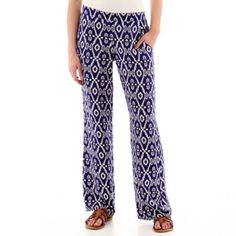 9816fc7c8e204 by by Print Wide-Leg Pants found at  JCPenney Love Blue
