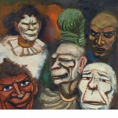 Walt Kuhn (American, 1877-1949), Masks, 1939