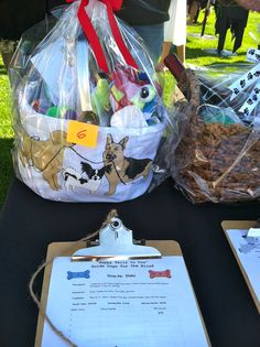 Silent Auction Item For Pet Fundraiser - Great attention to detail with well-done basket and themed bidding sheet. A well-presented item always gets higher bids, so take the time to do your best.