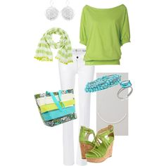 Lime Green & Turquoise, created by casareeder on Polyvore