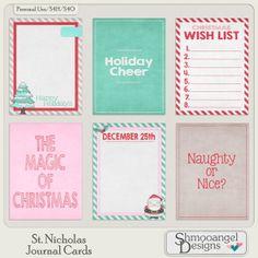 Free St. Nicholas Journal Cards