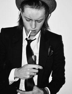 Erika Linder; tomboy style
