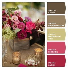 brown and raspberry wedding - Google Search