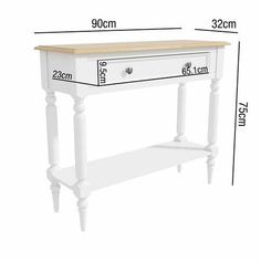 Shop the Pine & White Console Table with Drawer - Auckland here. Expert advice & competetive delivery options available. Low Shelves, Open Shelving, White Console Table, House Keys, Large Drawers, Top Drawer, Floor Space, Staying Organized, Auckland