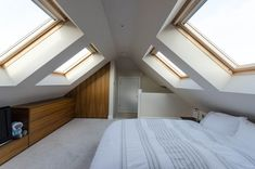 The Do's and Don'ts of Attic Rooms Low Ceiling Bedroom Designs In the current era, designing a bedroom has become rather a favorite profession. If there are several bedrooms in your house, then one of your bedrooms is going to… Continue Reading → Mezzanine Bedroom, Attic Loft, Loft Room, Attic Rooms, Attic Spaces, Bedroom Loft, Master Bedroom, Small Loft Spaces, Attic Conversion Bedroom