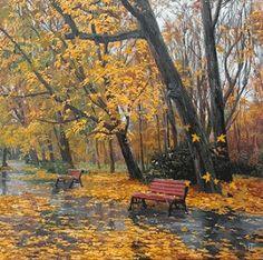 Windy autumn day