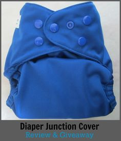 Diaper Junction One-Size Cover and Unbleached Flats Review & Giveaway