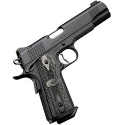 Ah - the Kimber Tactical Custom II. Is it a machine, or is it a work of art? Both, you say? Why yes, I believe you're right. A fine weapon (and highly accurate too), its on my left hip more often than not.