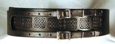 Kilt Belt Black Leather Double Buckle by HolyHeckUSA on Etsy, $65.00