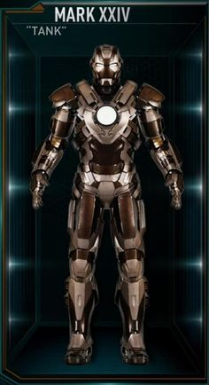 The Tank is the twenty-fourth Iron Man suit created by Tony Stark, and one of the many armors he developed after the battle for New York against Loki and the Chitauri. The attack had left him with the feeling that the world couldn't be safe for long, and that he needed to build more suits until the next time Earth was in danger. The Tank suit was among those summoned by Stark to battle Extremis-enhanced soldiers assisting Aldrich Killian's plot. It was controlled at the time by Stark's…