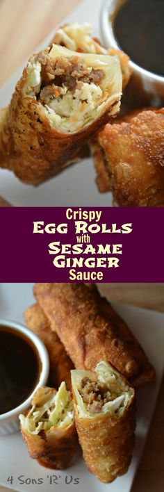 Why order take-out, when you can make your own perfectly crisped egg rolls right at home and serve them with a yummy side of sauce? Crispy Homemade Egg Rolls with a Sesame Ginger Dipping Sauce are even better than take out. They're downright gourmet. It doesn't get any easier than with[Read more]