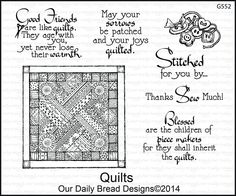 Our Daily Bread Designs - QUILTS