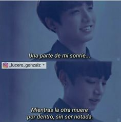 One part of me smiles.while the other dies for inside, without be noticed. Frases Bts, Frases Tumblr, Bts Quotes, Love Quotes, Bts Lyric, Sad Life, Im Sad, Bts Memes, Lyrics