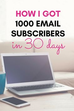Want to learn how I got 1000 email subscribers in 30 days? I'm laying out the steps I took so you can recreate them for your blog too!