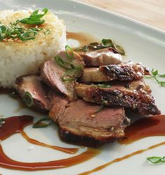 Grilled #Duck Breasts with Sake & Soy Glaze #recipe