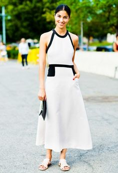 A midi dress (or skirt) is a sophisticated yet flattering alternative to your go-to mini or maxi.