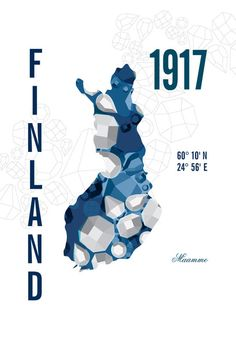 Finland Map Travel Poster print