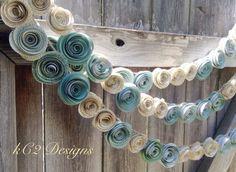 Hey, diesen tollen Etsy-Artikel fand ich bei https://www.etsy.com/de/listing/197767655/paper-flower-garland-teal-garland