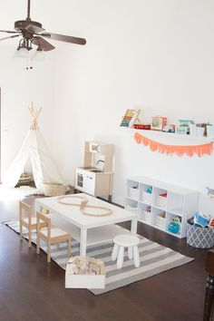 20 Fantastic Kids Playroom Design Ideas – My Life Spot Playroom Decor, Kids Decor, Home Decor, Playroom Ideas, Playroom Table, Modern Playroom, Ikea Kids Table And Chairs, Play Spaces, Kid Spaces