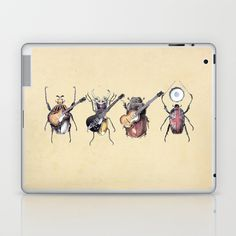 Meet the Beetles Laptop & iPad Skin by Eric Fan - $25.00
