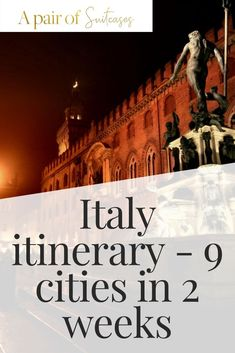 Our Italy itinerary - how we covered ten italian towns and cities in 14 days without breaking the bank. Things To Do In Italy, Places In Italy, 2 Weeks In Italy, Weather In Italy, Italy Culture, Travel Itinerary Template, Italy Italy, Visit Italy, Best Cities