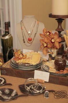 The perfect table display for any party! #Silpada #Jewelry #Necklace