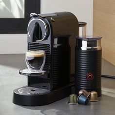Nespresso ® Citiz Black Espresso Machine with Milk Frother - Crate and Barrel