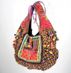 http://www.artfire.com/ext/shop/studio/bohemiantouch/1/1/7262//  Bohemian Hippie look Handmade Women vintage tribal fabric 100% handmade Beautiful Casual Chic Multicolor Boho Bag made from vintage hill tribe fabric    Hippie bag made from vintage textiles !!! Casual Chic.