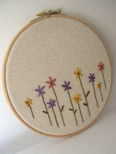 Hoop art hand embroidery flowershome decorkids room by pitsispopis, $29.00