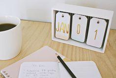 A Lovely Little DIY Desk Calendar
