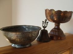 Three Piece Metal Collection, via Etsy.