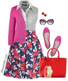 Plus Size Floral Skirt - Plus Size Outfit - Plus Size Fashion for Women - Alexawebb.com #alexawebb