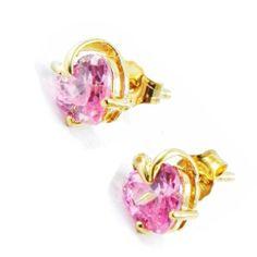 "Earrings ""Coeur Révérence"" pink. Les Tresors de Lily. $23.00"