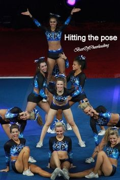Hitting the pose, the Best of Cheerleading.  The best feeling.  Competitive  CHEER |  Moved from @Kythoni Cheerleading: Competitive board  #KyFun m.15.95