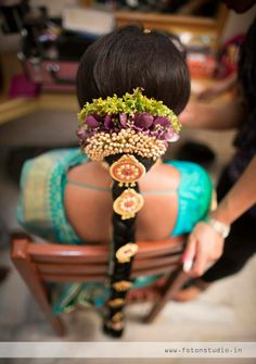 Traditional South Indian bridal hairstyle