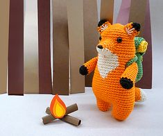Ravelry: Francois the Fox pattern by Justine T. Double Crochet, Single Crochet, Fox Pattern, Paintbox Yarn, Crochet Hook Sizes, Arm Knitting, Yarn Colors, Chain Stitch, Stitch Markers