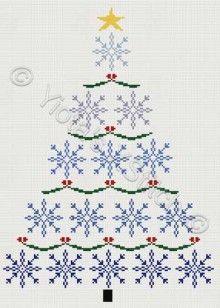 Christmas tree cross stitch - I found this one on yiotas-xstitch.com