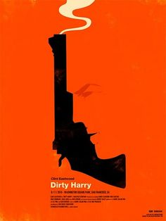 Cool stylized Dirty Harry movie poster